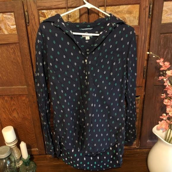 Merona Tops - Merona Long Sleeve Navy Shirt (Large)
